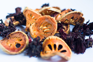 dried Roselle  and  dried bael