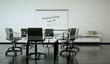 Bürodesign Konferenzzimmer schwarz