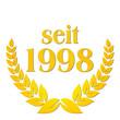 seit 1998 jubiläum lorbeerkranz lorbeer gold