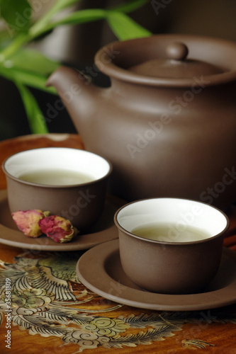 Asian tea set.