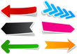 Color arrows sticker set.