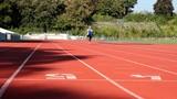 Male sprinter short distance poster