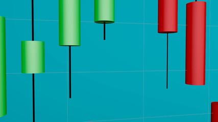 Velas japonesas, gráfico de bolsa