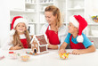 Santa came earlier this year - family having fun in the kitchen