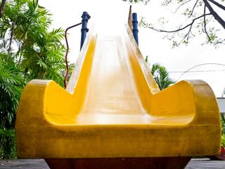 Children slider in playground