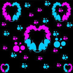 Heart leafs pattern