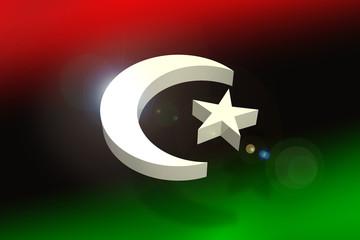 Libya flag concept