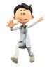 Dr Cartoon jumping