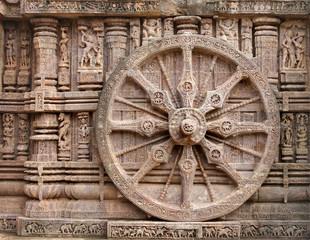Beautiful chariot Wheel, Konark Sun Temple, Orissa