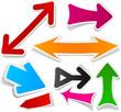 Color arrows sticker set.