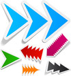 Toothy arrows sticker set.