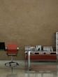 Bürodesign - Büro mit Schreibtisch braun