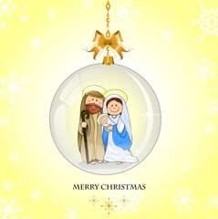 Holy Family yellow background