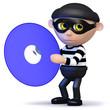3d Burglar steals data off DVD