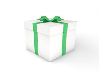 3d Rendering Geschenk weiß grün