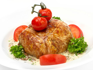 meat stuffed with couscous