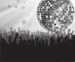 Diskokugel mit Fans grau/silber