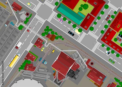 Foto op Plexiglas Op straat steel city