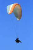 Paraglider flying from the Gilboa mountains, Israel