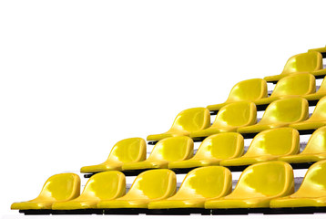 Yellow bleachers isolated