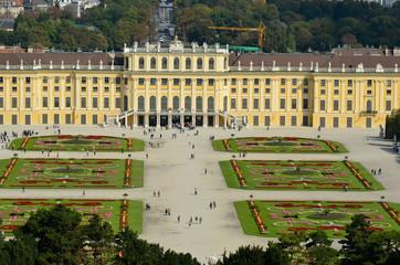 Tourisme au palais de Schonbrunn