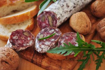 Salami mit Rucola