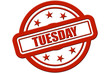 Sternen Stempel rot rel TUESDAY