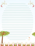 Childhood correspondence sheet vector poster