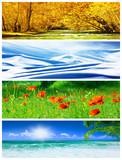 Fototapety Four seasons collage