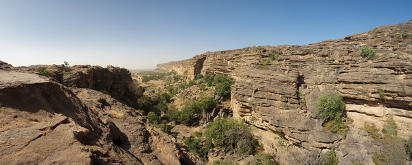 Cliff of Bandiagara in Dogon Land