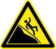 Warnschild Warnzeichen Eisstelle Rutschgefahr Berg
