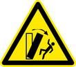 Warnschild Warnzeichen Umkippen Umfallen Symbol
