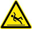 Warnschild Warnzeichen Rutschgefahr Glätte Ausrutschen