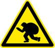 Warnschild Warnzeichen Einbrecher Diebe Verbrecher