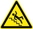 Warnschild Warnzeichen Vorsicht Treppenstufen