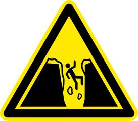 Warnschild Warnzeichen Gletscherspalten Einsturzgefahr