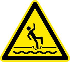 Warnschild Warnzeichen Eisfläche Eisbahn Einsturzgefahr