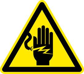 Warnschild Warnzeichen Stromschlaggefahr Stromunfall
