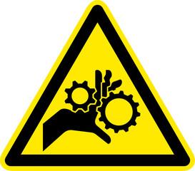 Warnschild Warnzeichen Einzugsgefahr Quetschgefahr