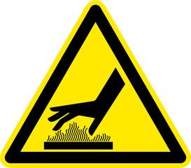 Warnschild Warnzeichen Heiße Oberflächen Verbrennungsgefahr