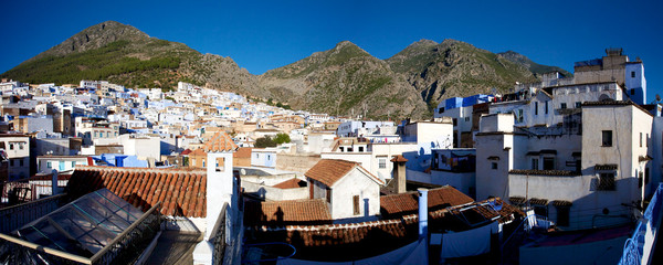 Panoramic view of Chaouen