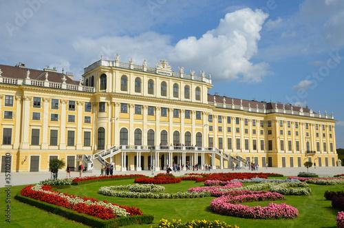 Leinwandbild Motiv Le Palais de Schonbrunn dans Vienne