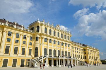 Façade du Palais de Schonbrunn à Vienne