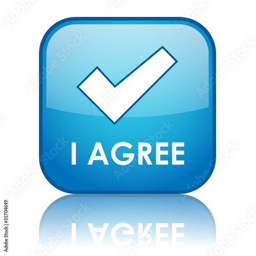 """I AGREE"" Web Button (accept terms and conditions contract ok)"