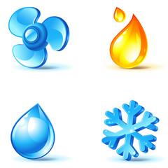 air-conditioner icons
