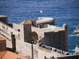 The walled city of Dubrovnic in Croatia Europe