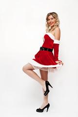Flirty pinup santa girl