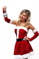 Santa girl with small disco ball