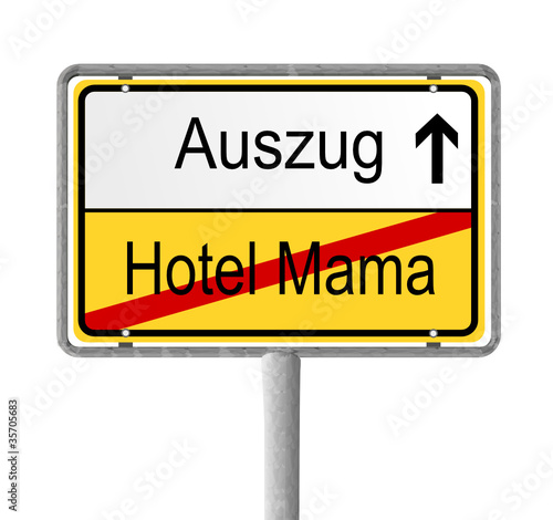 schild auszug aus hotel mama stockfotos und lizenzfreie vektoren auf bild 35705683. Black Bedroom Furniture Sets. Home Design Ideas