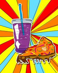 Pop art junk food